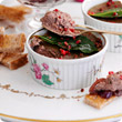 Chicken liver parfait with red onion marmalade