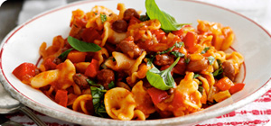 Borlotti beans, pasta and veg make this stew a real comfort food treat ...