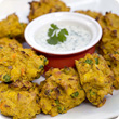 Spicy vegetable pakoras